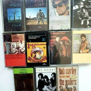 Jimi Hendrix Pink Floyd The Doors Tape Collection
